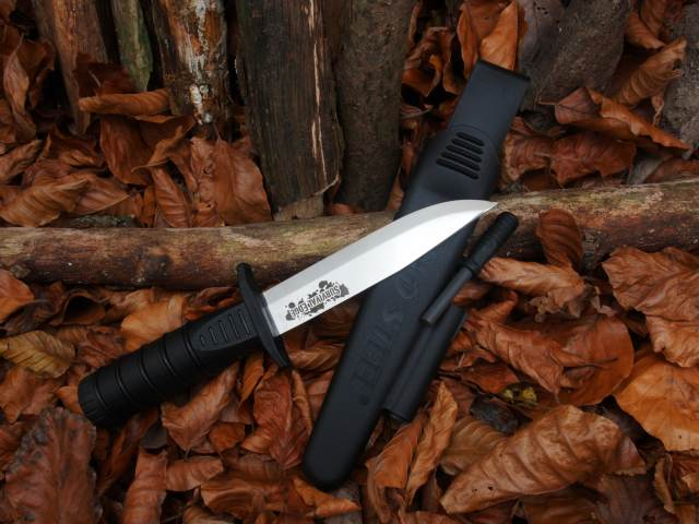 Cold Steel Survival Edge Black mit Feuerstahl