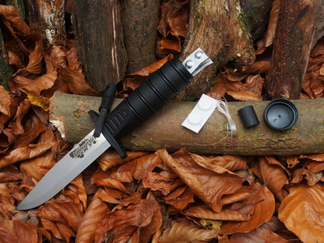 Cold Steel Survival Edge Black mit Survival Pack im Hohlgriff