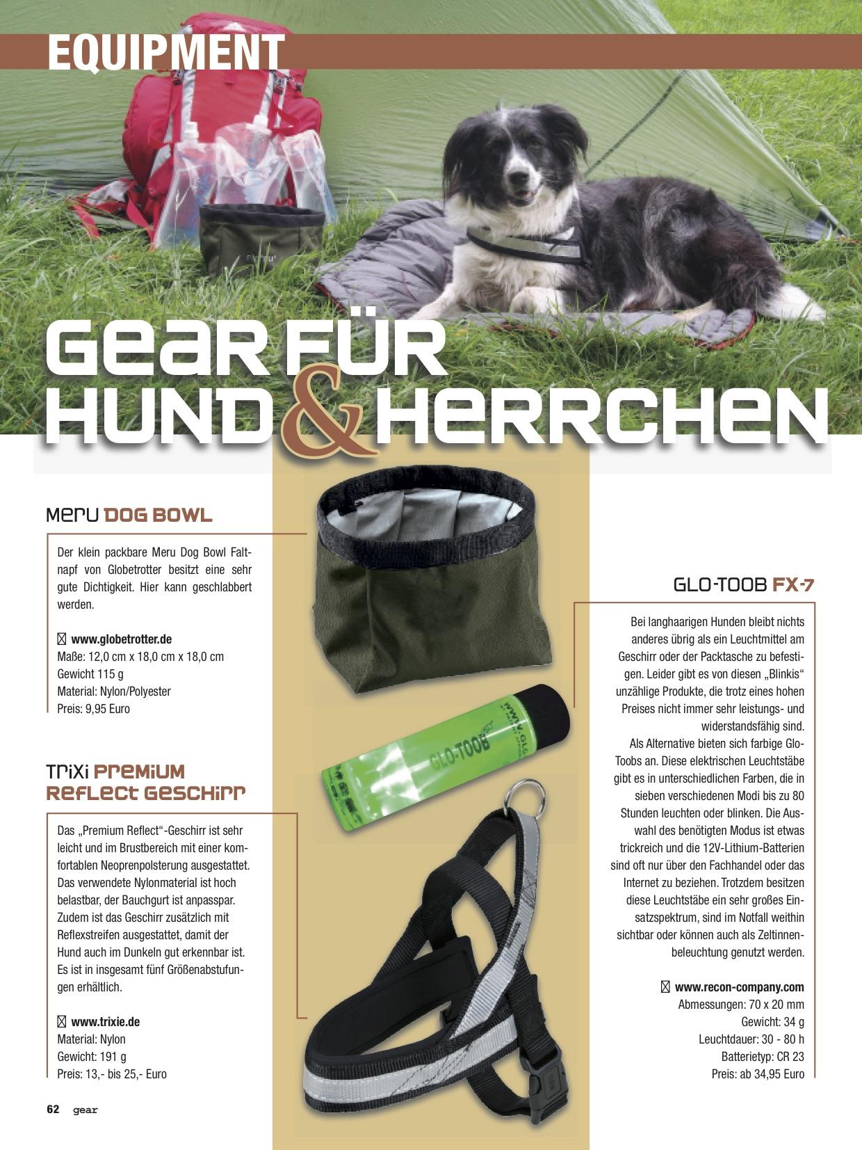 gear für Hund und Herrchen