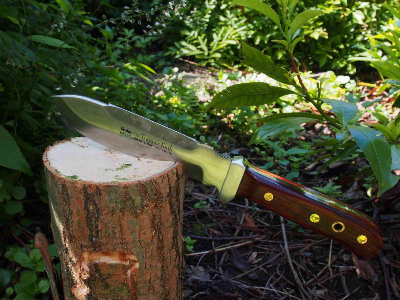 Linder Trapper Messer für harte Holzarbeit