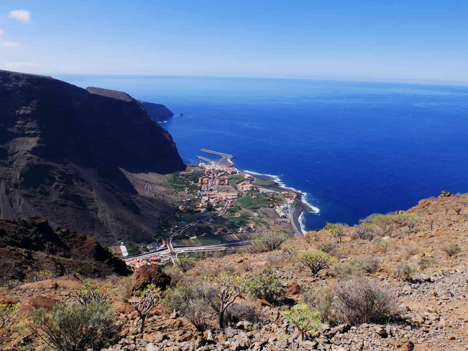 La Mérica - Valle Gran Rey von oben