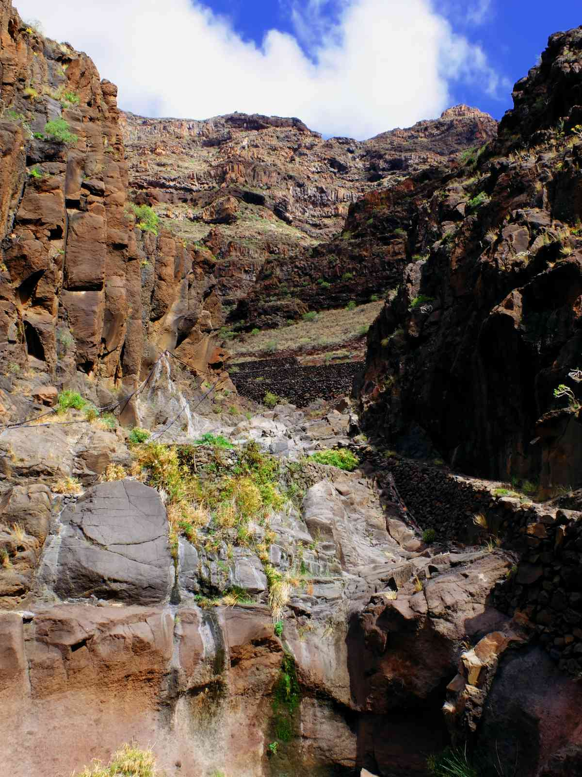 Durch die wilde Argaga-Schlicht - Kletterei