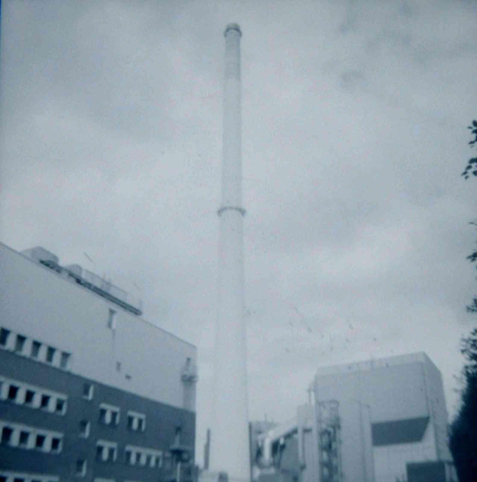 Schornstein, Bayer-Werk, Wuppertal 2017