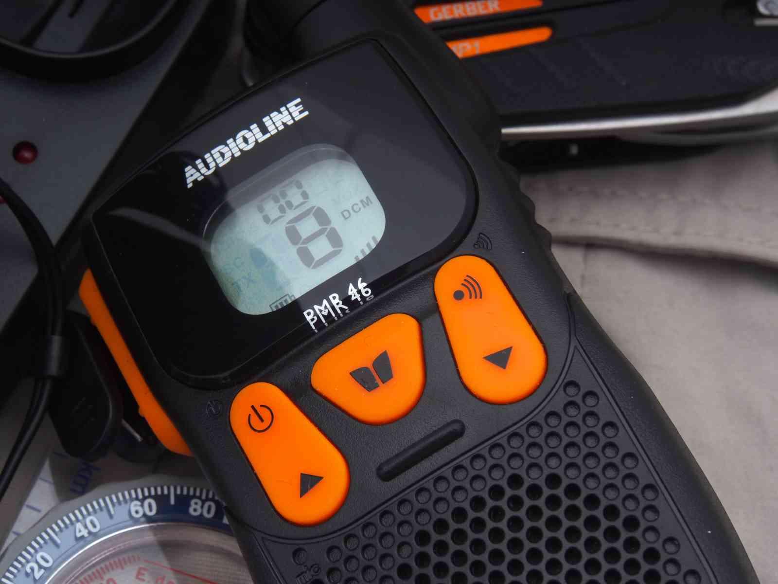 Audioline Power PMR 46 - Deutlich abgesetzte Bedienelemente