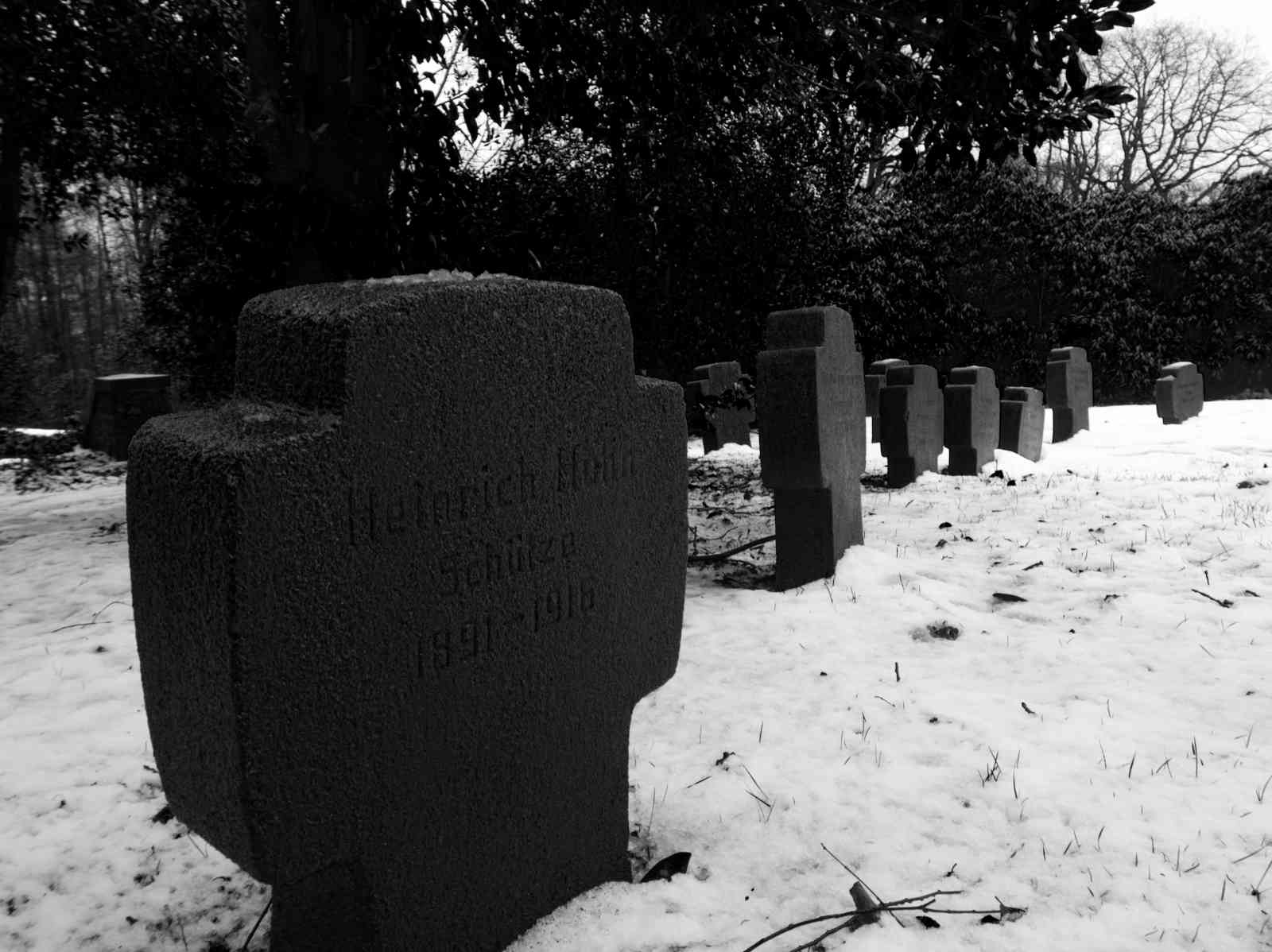 Ehrenfriedhof Königshöhe - Grabsteine