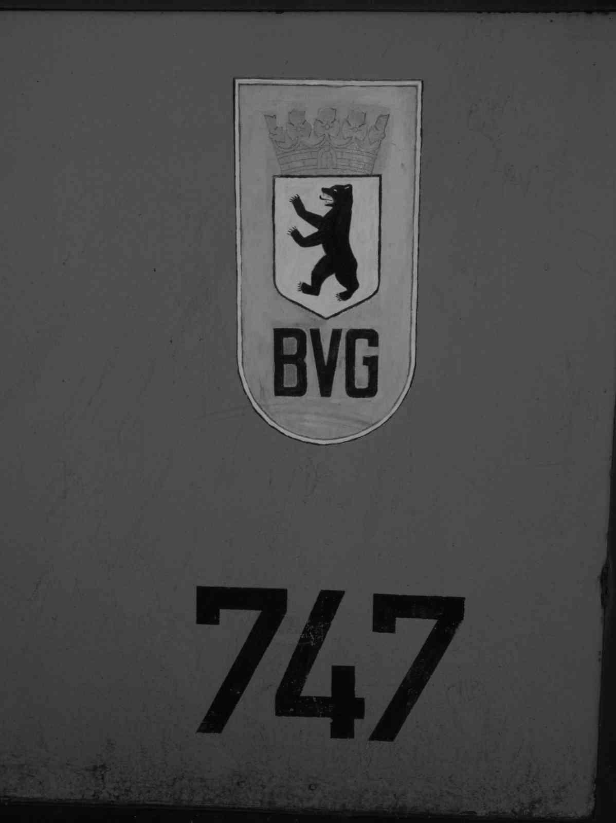 Berliner Straßenbahn - Wagen 747