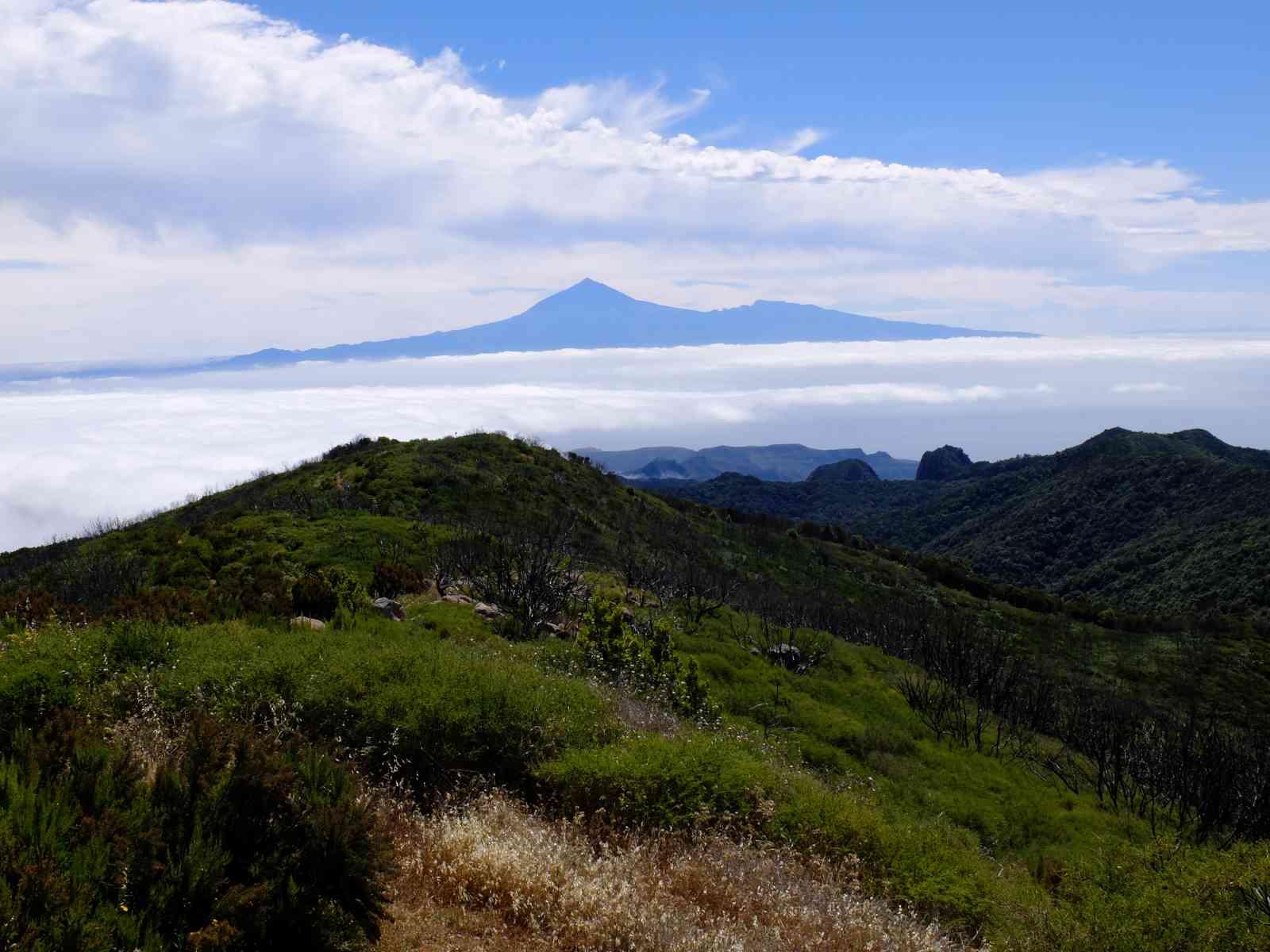 Die höchsten Berge von La Gomera - Und noch einmal Teneriffa