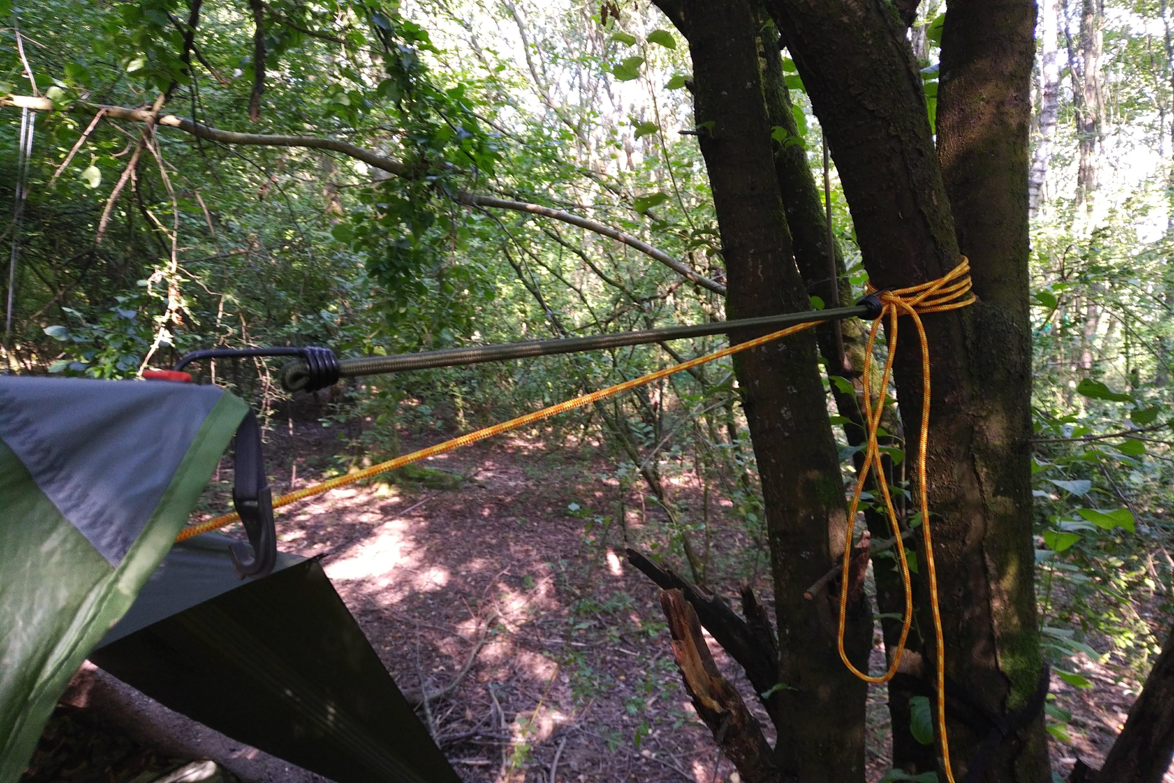 Hängemattenabenteuer - Ridgeline und Tarp-Befestigung