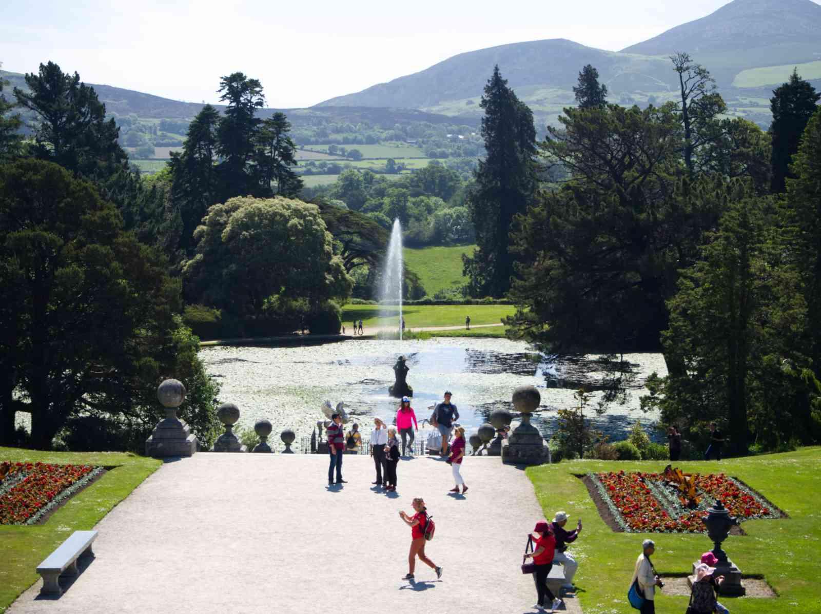 Powerscourt Gardens - Blick auf den Triton-Lake