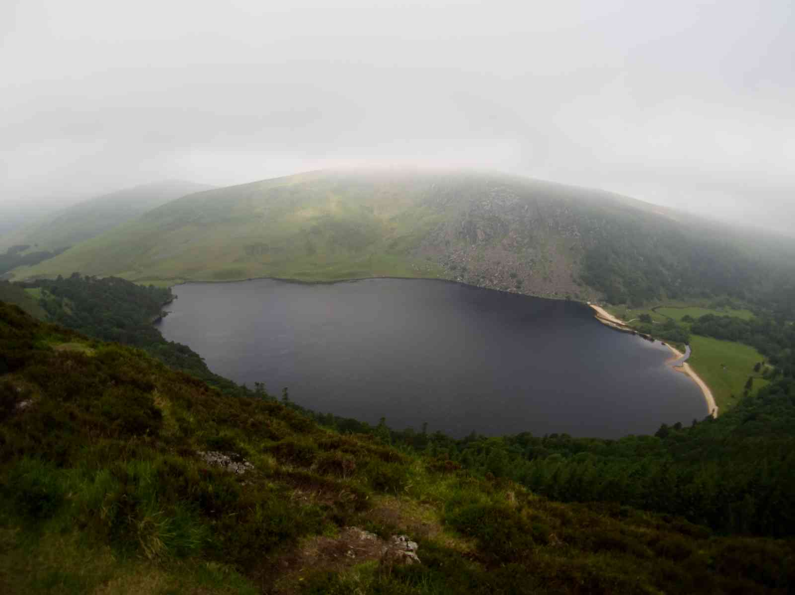 Auf dem Wicklow Way - Lough Tay
