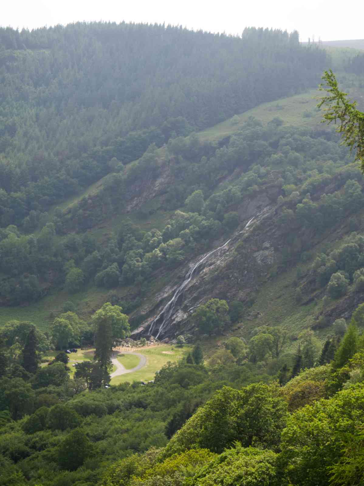 Auf dem Wicklow Way - Powerscourt Waterfall
