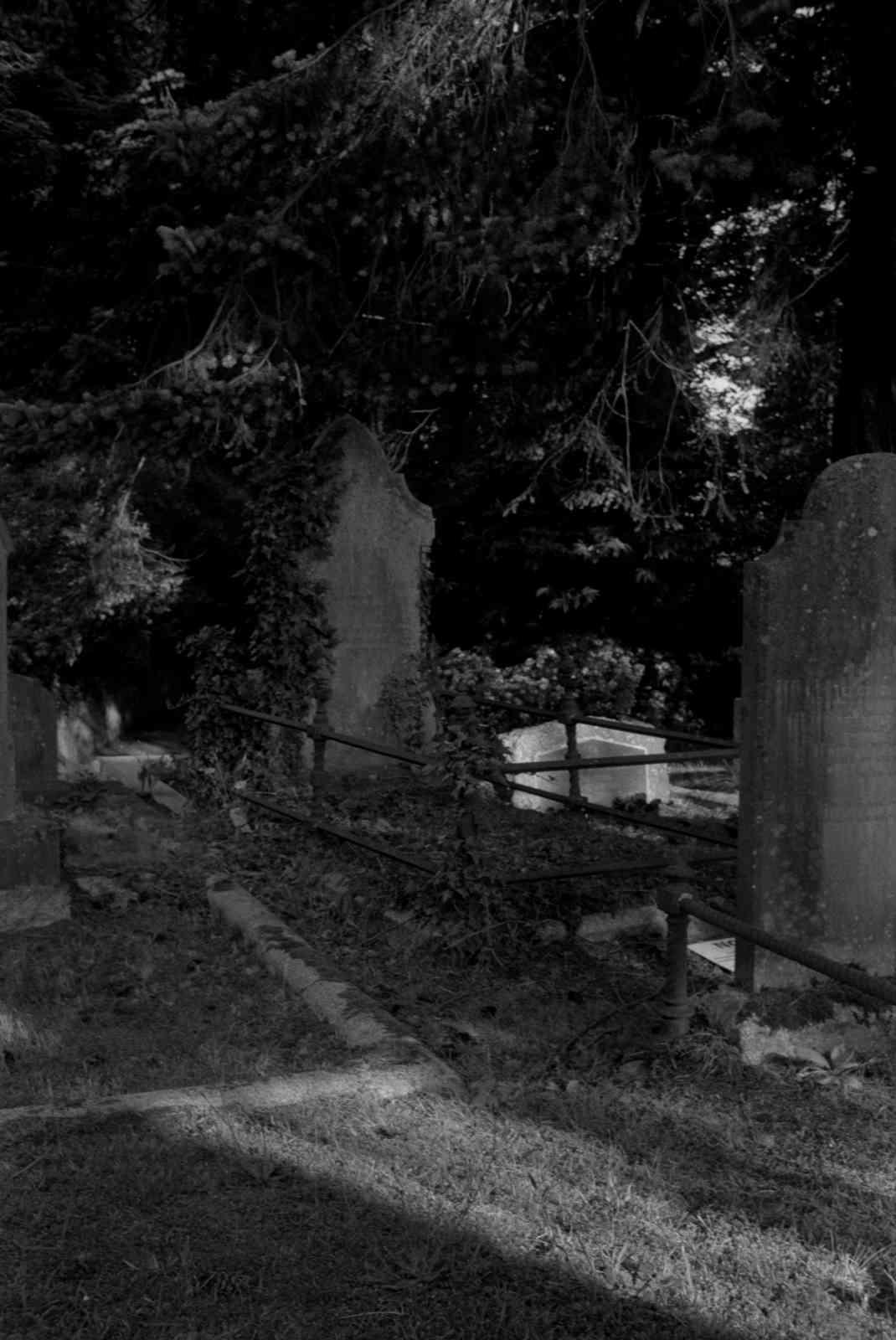 Friedhof Enniskerry 04, Rollei35 Ilford HP5 400