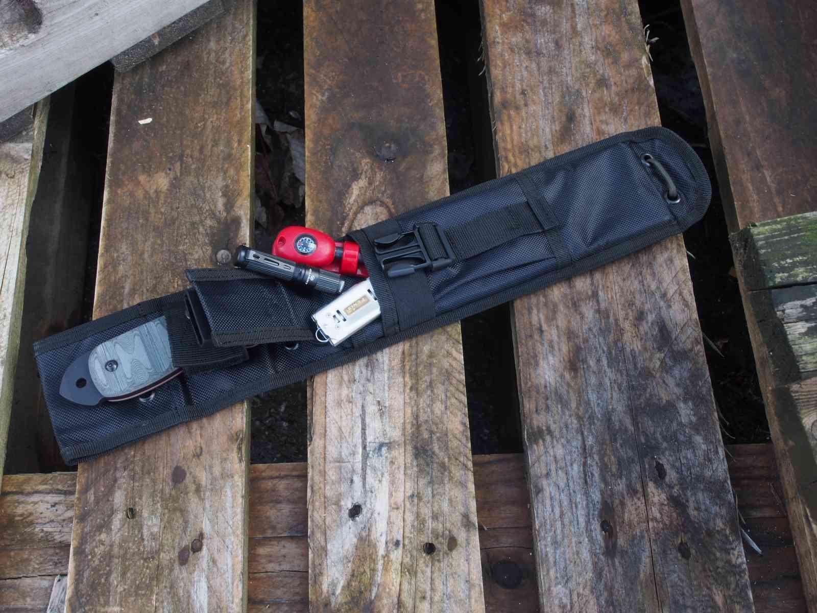Tops SXB - Messerscheide mit Platz für Zusatzequipment