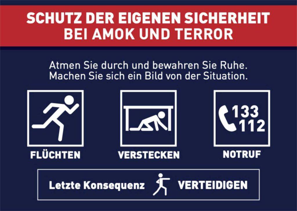 In Deutschland nutze die Notrufnummern 110 und 112!