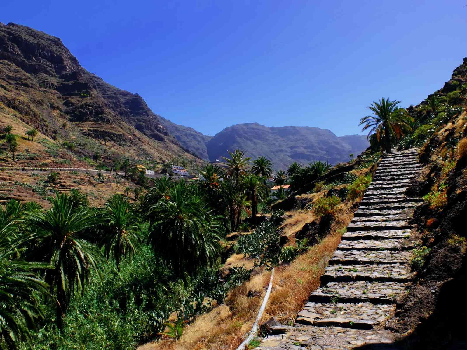 Valle Gran Rey - Blick ins Tal