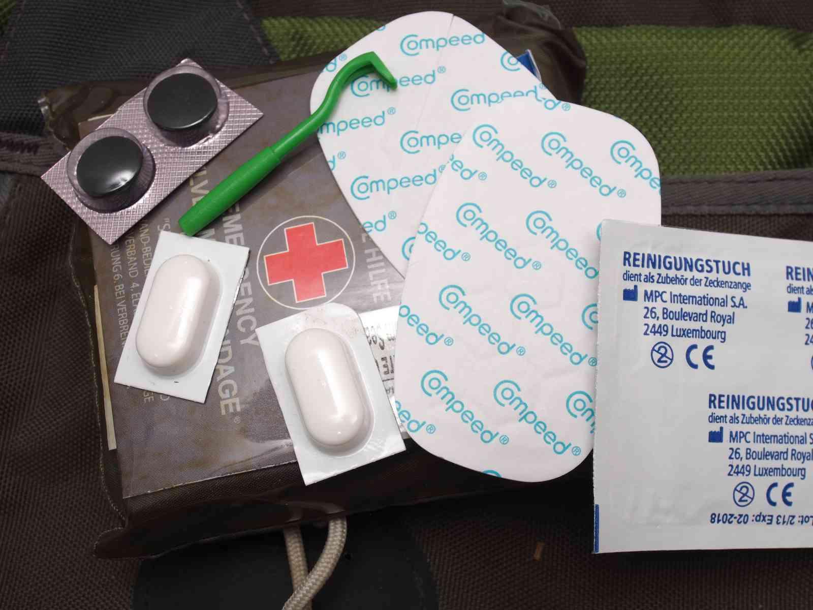 Survival-Kit Packliste - Erste Hilfe