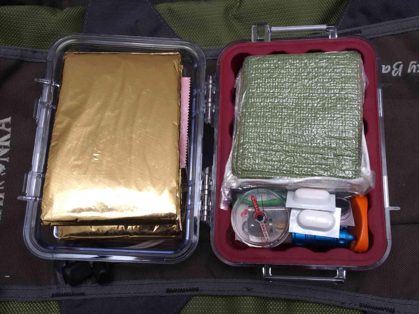 Mein Survival-Kit - Alles drin