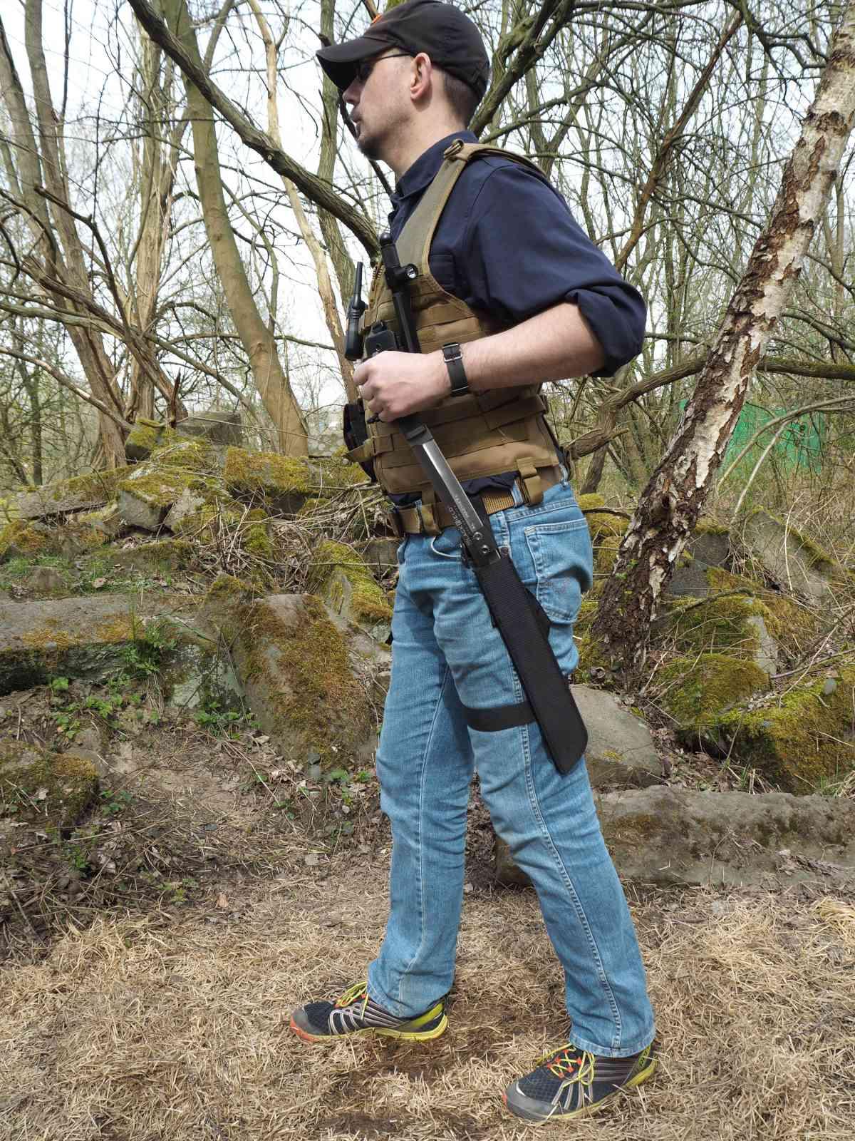 Blackfield Tactical Machete - Ziehrichtung