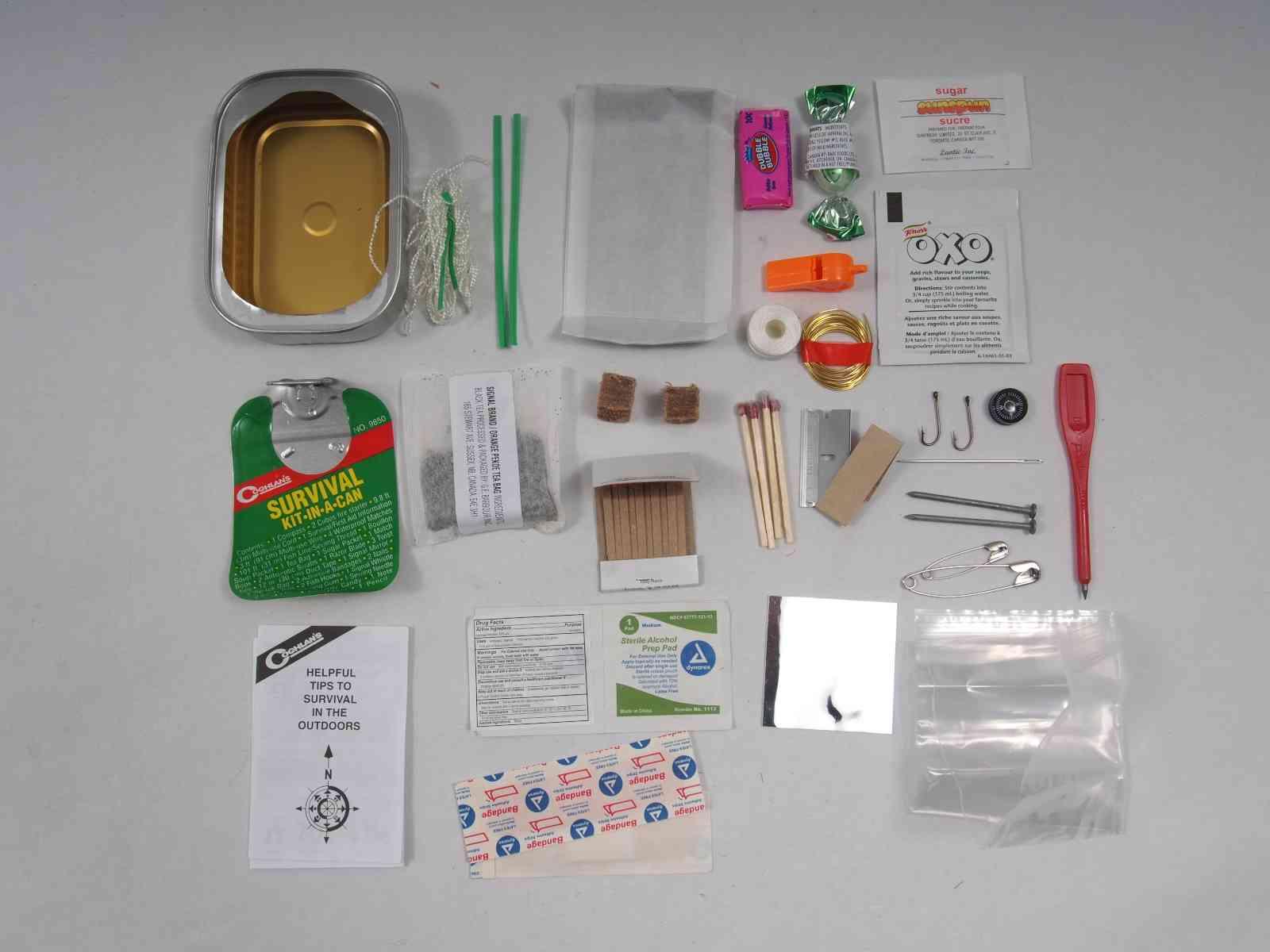 Coghlan's Survival-Kit - Kit-in-a-Can - Inhalt