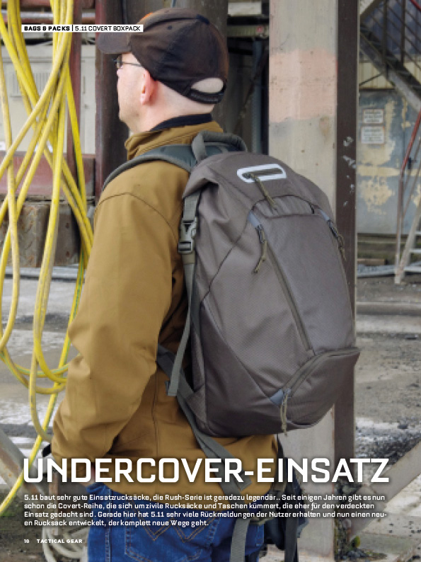 5.11 Tactical Covert Boxpack in TACTICAL GEAR (c) Wieland Verlag