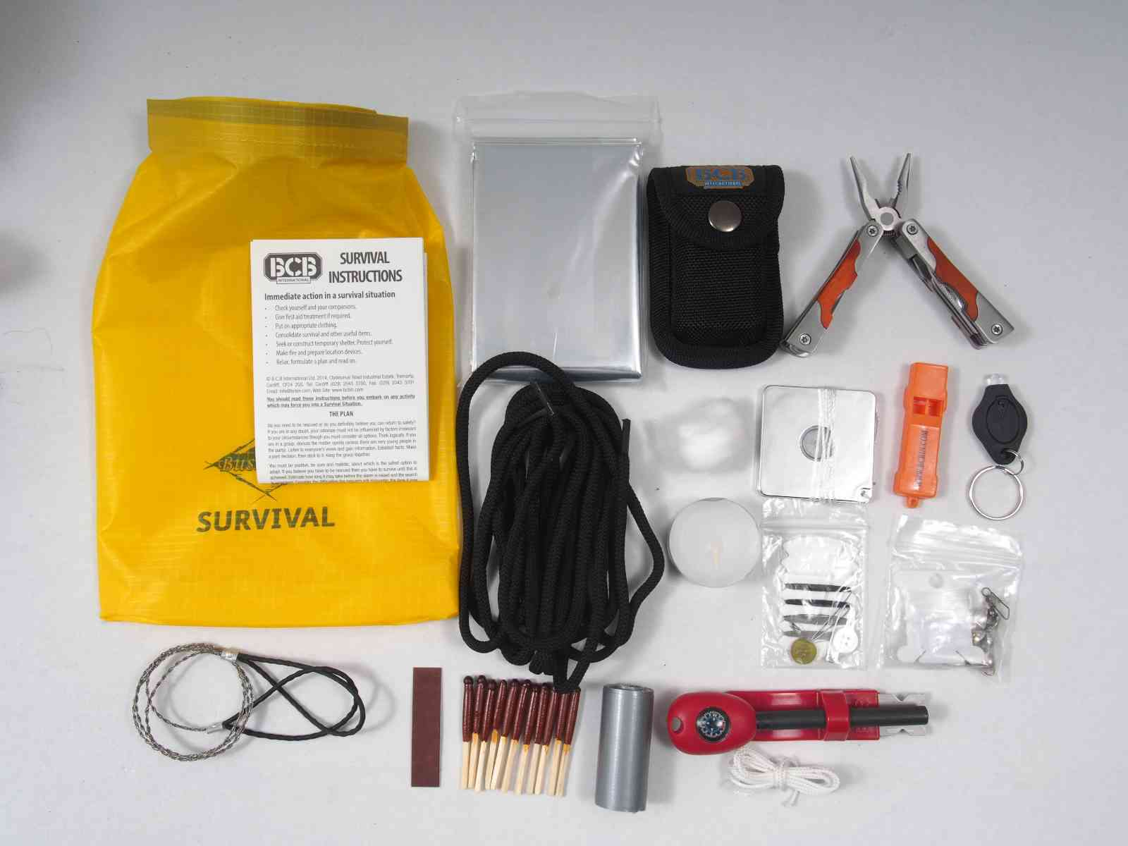 BCB Essential Survival Kit - Inhalt