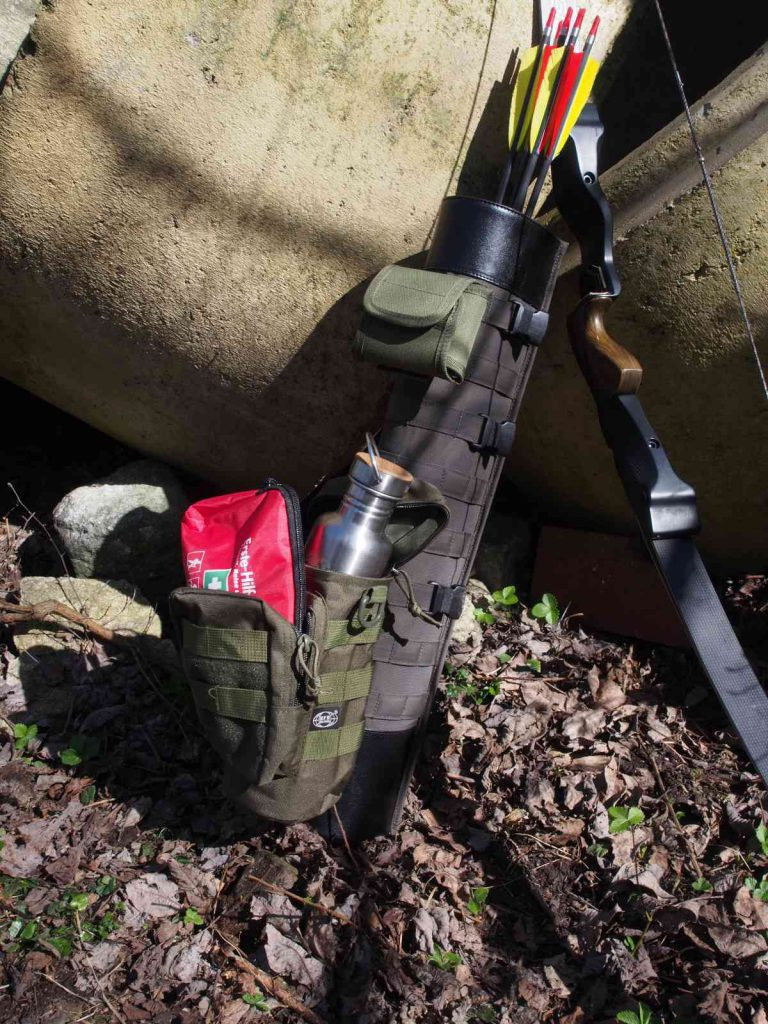Pfeilköcher 2in1 Military - Vielseitig durch Zusatztaschen