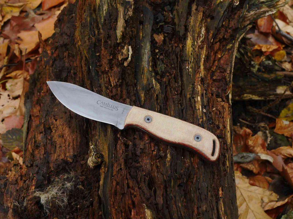 Camillus Bushcrafter - Rostende Klinge mit Steingrauem Finish
