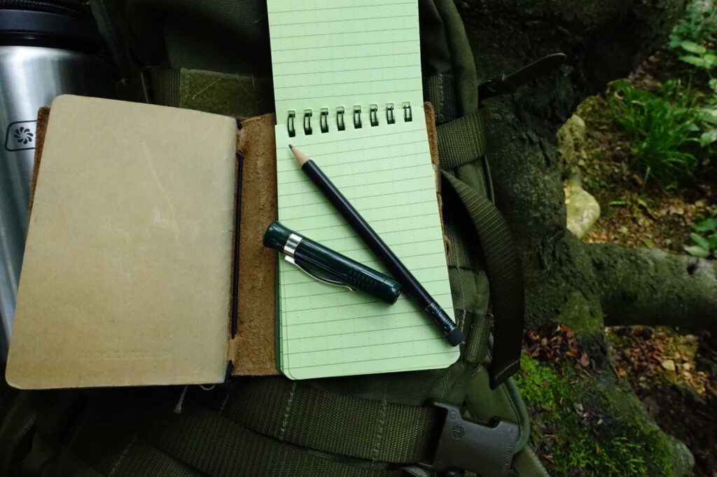 Kappe und Bleistift
