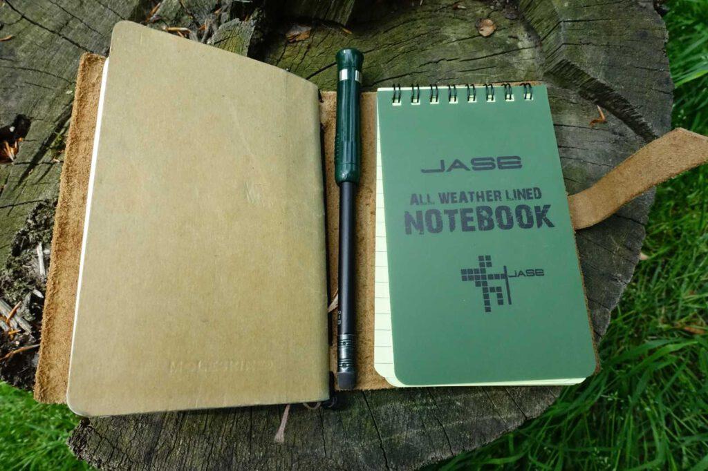 Für unterwegs: Stift und Papier